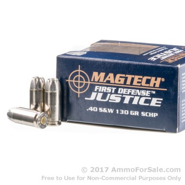 20 Rounds of 130gr SCHP .40 S&W Ammo by Magtech