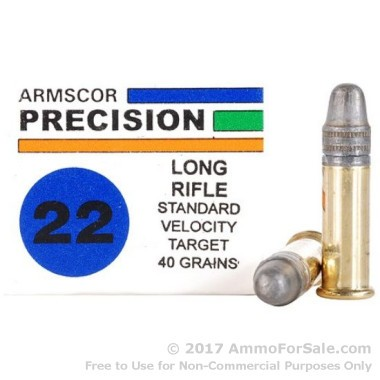 1000 Rounds of 40gr LS .22 LR Ammo by Armscor