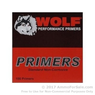 5000 Small Rifle Magnum Primers  by Wolf