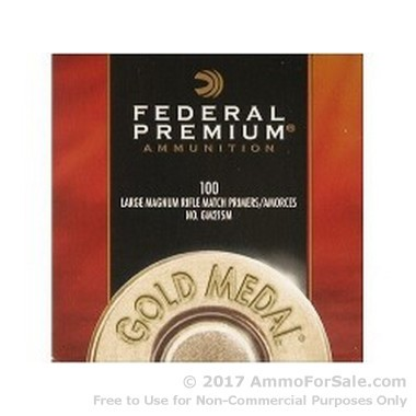 5000 Large Rifle Magnum Primers  by Federal