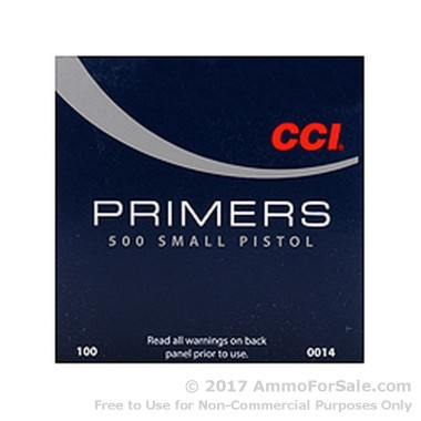5000 Small Pistol Primers  by CCI