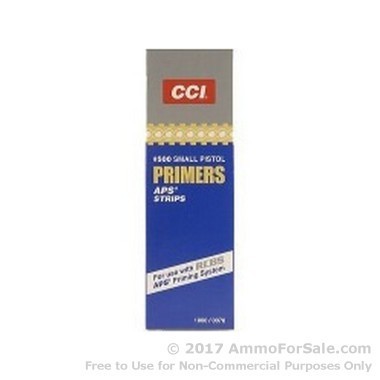 1000 Small Pistol Primers  by CCI