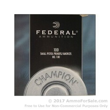 1000 Small Pistol Primers  by Federal