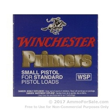 2000 Small Pistol Primers  by Winchester