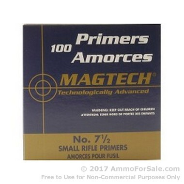 5000 Small Rifle Primers  by Magtech
