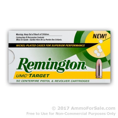 250 Rounds of 115gr MC 9mm Nickel Plated Ammo by Remington