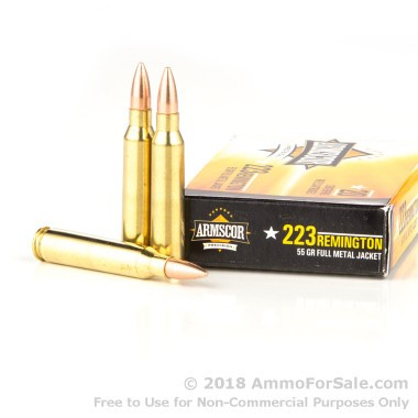 1000 Rounds of 55gr FMJBT .223 Ammo by Armscor
