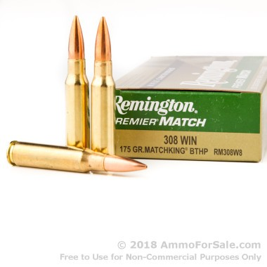 20 Rounds of 175gr HPBT .308 Win Ammo by Remington