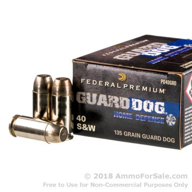 20 Rounds of 135gr EFMJ .40 S&W Ammo by Federal