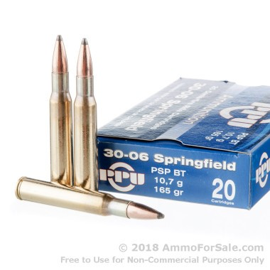 500  Rounds of 165gr PSP 30-06 Springfield Ammo by Prvi Partizan