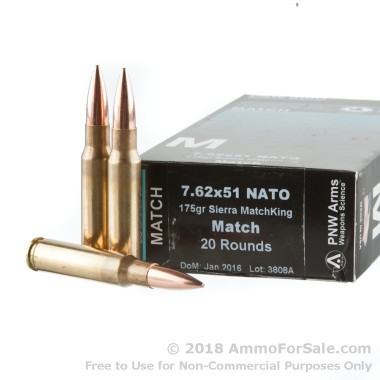 400 Rounds of 175gr HPBT .308 Win Ammo by PNW Arms