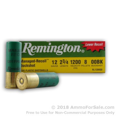 100 Rounds of  00 Buck 12ga Ammo by Remington