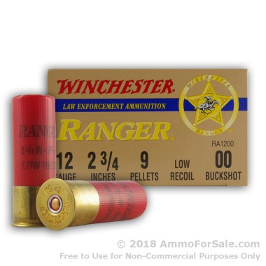 25 Rounds of  00 Buck 12ga Ammo by Winchester