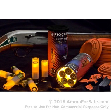 10 Rounds of 3/4 ounce #8 shot 12ga Tracer Ammo by Fiocchi