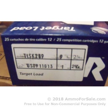 250 Rounds of 1 ounce #9 shot 12ga Ammo by Rio Ammunition