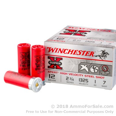 25 Rounds of 1 ounce #7 Shot (Steel) 12ga Ammo by Winchester