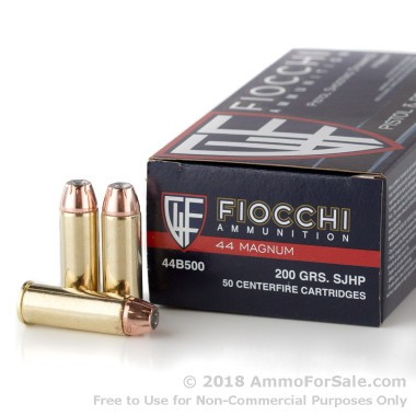 50 Rounds of 200gr SJHP .44 Mag Ammo by Fiocchi