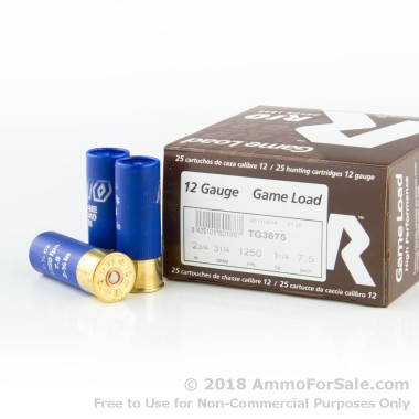 250 Rounds of 1 1/4 ounce #7 1/2 shot 12ga Ammo by Rio Ammunition