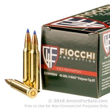 1000 Rounds of 40gr V-MAX .223 Ammo by Fiocchi
