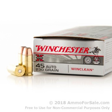 50 Rounds of 230gr BEB .45 ACP Ammo by Winchester