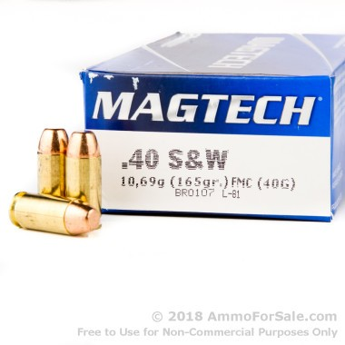 1000 Rounds of 165gr FMC .40 S&W Ammo by Magtech