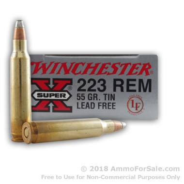 20 Rounds of Lead-Free 55gr FSP .223 Ammo by Winchester