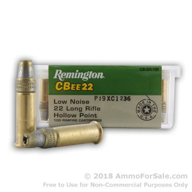 100 Rounds of 33gr HP .22 LR Ammo by Remington