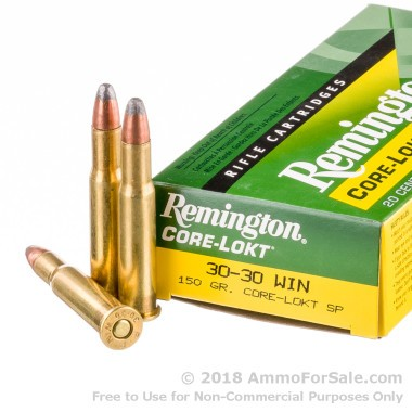 20 Rounds of 150gr SP 30-30 Win Ammo by Remington
