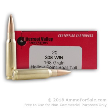 20 Rounds of 168gr HPBT .308 Win Ammo by BVAC