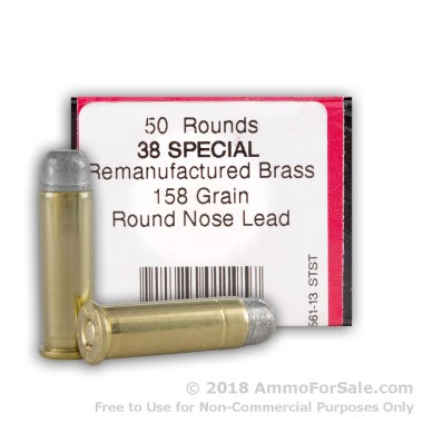 1000 Rounds of 158gr LRN .38 Spl Ammo by BVAC Remanufactured
