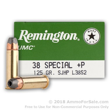 500 Rounds of 125gr SJHP .38 Spl Ammo by Remington