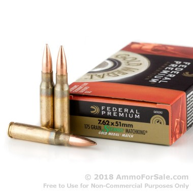 20 Rounds of 175gr HPBT 7.62x51mm Ammo by Federal