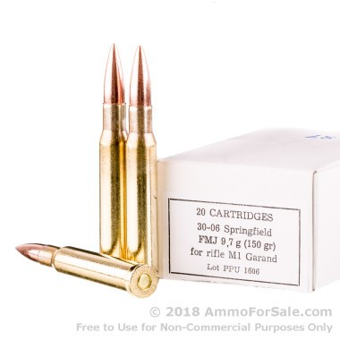 500  Rounds of 150gr FMJ 30-06 Springfield Ammo by Prvi Partizan