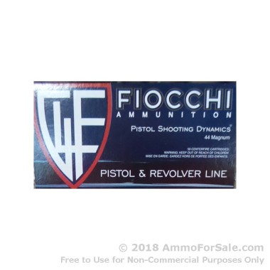 1000 Rounds of 200gr SJHP .44 Mag Ammo by Fiocchi