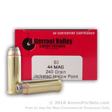 50 Rounds of 240gr SJHP .44 Mag Ammo by BVAC