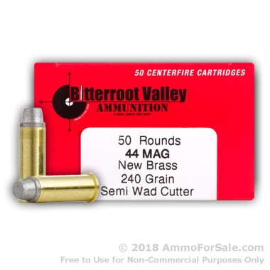 50 Rounds of 240gr LSWC .44 Mag Ammo by BVAC