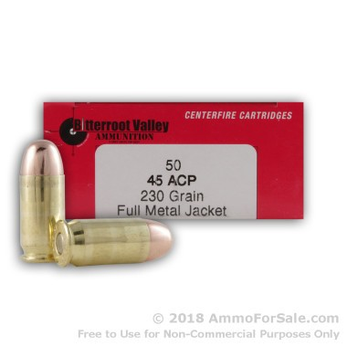 50 Rounds of 230gr FMJ .45 ACP Ammo by BVAC