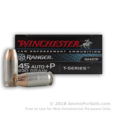500  Rounds of 230gr JHP .45 ACP Ammo by Winchester