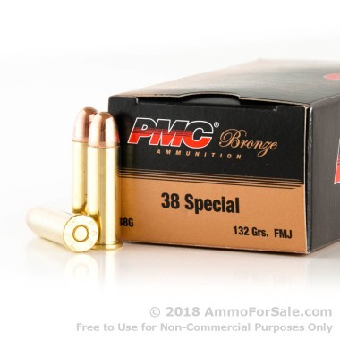 1000 Rounds of 132gr FMJ .38 Spl Ammo by PMC