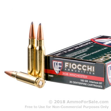 200 Rounds of 165gr SPBT .308 Win Ammo by Fiocchi