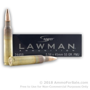 500  Rounds of 55gr FMJ 5.56x45 Ammo by Speer