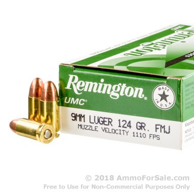 500  Rounds of 124gr MC 9mm Ammo by Remington
