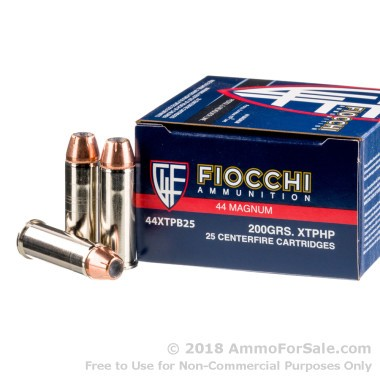 500  Rounds of 200gr JHP .44 Mag Ammo by Fiocchi