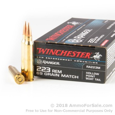 200 Rounds of 69gr HPBT .223 Ammo by Winchester
