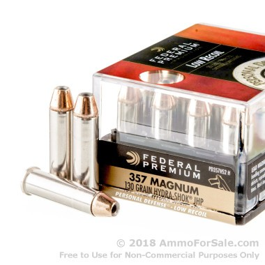 20 Rounds of 130gr JHP .357 Mag Ammo by Federal