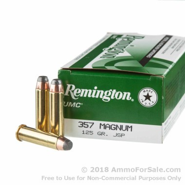 500 Rounds of 125gr JSP .357 Mag Ammo by Remington