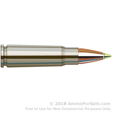 20 Rounds of 123gr Z-Max 7.62x39mm Ammo by Hornady