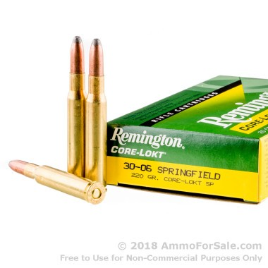 20 Rounds of 220gr SP 30-06 Springfield Ammo by Remington