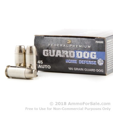 20 Rounds of 165gr EFMJ .45 ACP Ammo by Federal