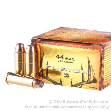20 Rounds of 240gr Fusion .44 Mag Ammo by Federal